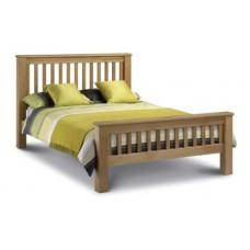 Amsterdam Oak Bed - High Foot End