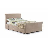 Capri 2 Drawer Fabric Bed in Mink or Grey