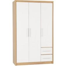 Seville 3 door 2 drawer wardrobe