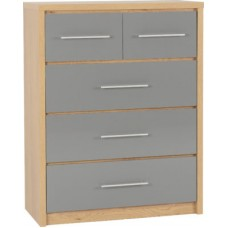 Seville 3+2 chest of drawers - BLACK ONLY