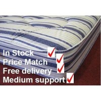 Light Quilted Traditional Sprung Mattress - medium