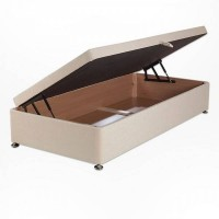 Ottoman single divan base side opening