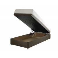 Ottoman single divan base end opening