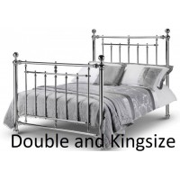 Empress Chrome Metal Bed Frames