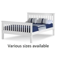 Monaco High Foot End White Wooden Bed Frames