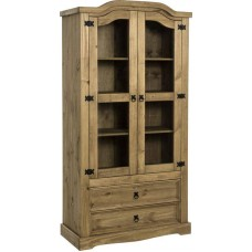 Corona 2 Door 2 Drawer Glass Display Unit