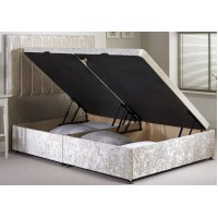 Ottoman double divan base side opening