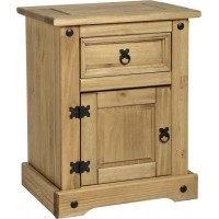 Corona 1 drawer 1 door bedside