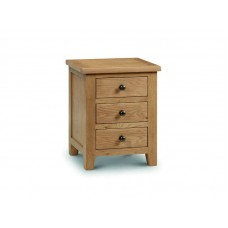 Oak Marlborough 3 drawer bedside