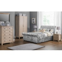 Verona 2 drawer Scroll Fabric Bed